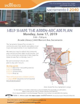 Arden-Arcade Community Plan Area Meeting