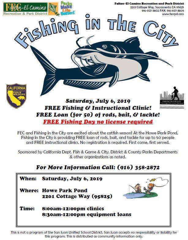 Fishing in the City presented by Fulton-El Camino Recreation and