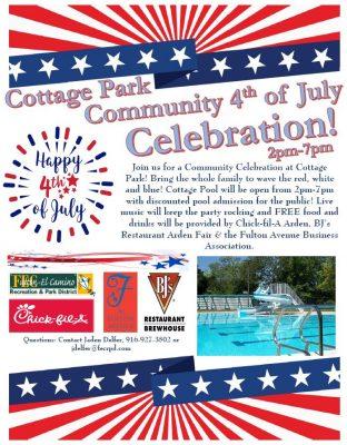 Cottage Pool 4th of July Celebration
