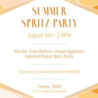Summer Spritz Party! (Sold Out)