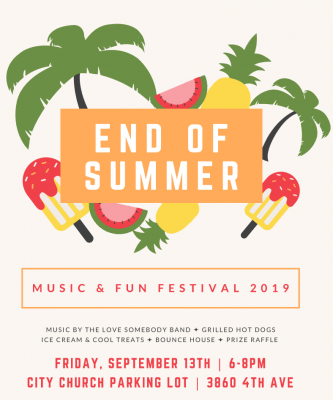 End of Summer Music and Fun Festival