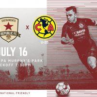 Club America U-20 vs. Sacramento Republic FC