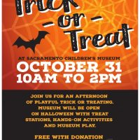 Trick-or-Treat at Sacramento Children's Museum