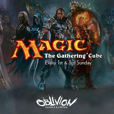 Magic the Gathering Cube at Oblivion Comics