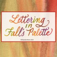 Lettering in Fall's Palette