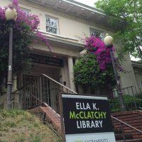 Friends of the Ella K McClatchy Library Cookbook Sidewalk Sale