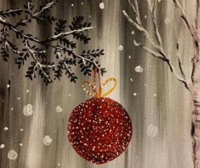Red Ornament Paint Nite