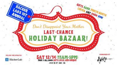 Last-Chance Holiday Bazaar
