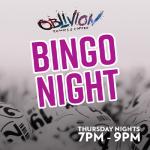 Oblivion Bingo Night