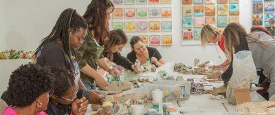 Clay Sculpture Workshop for Veterans II
