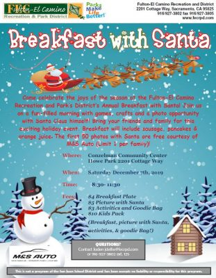 Breakfast with Santa (Howe Park Community Center)