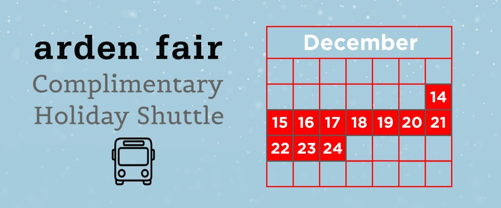 Arden Fair: Holiday Shuttle