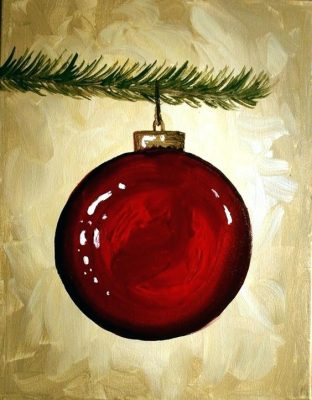 Painting and Vino: Ornament Workshop