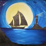 Paint and Vino: Moonlight Sail
