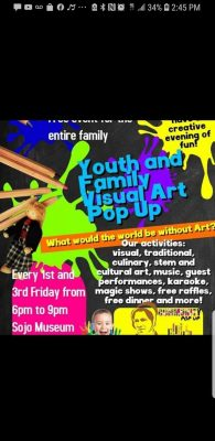 Youth and Family Visual Art Pop Up