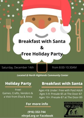 Breakfast with Santa and Holiday Party