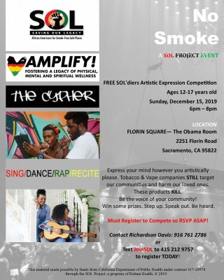 No Smoke: SOLdiers Artistic Expression Event