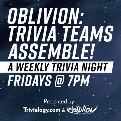 Trivia Teams Assemble (Cancelled)