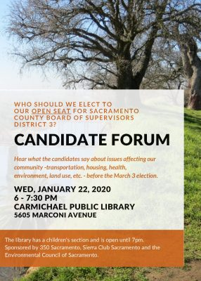 Candidate Forum for District 3 Board of Supervisor...