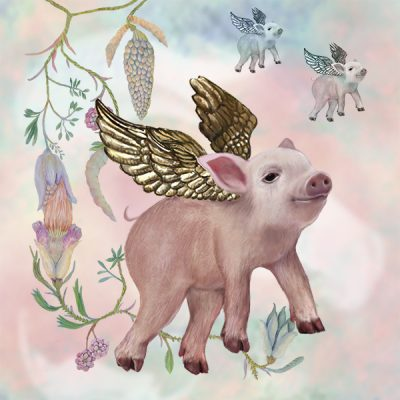 """Flying Pigs"" by Susan Silvester."