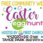 Easter Egg Hunt at Tahoe Park
