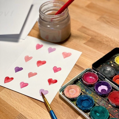 Galentine's Day Card-Making and Candle-Pouring Workshop