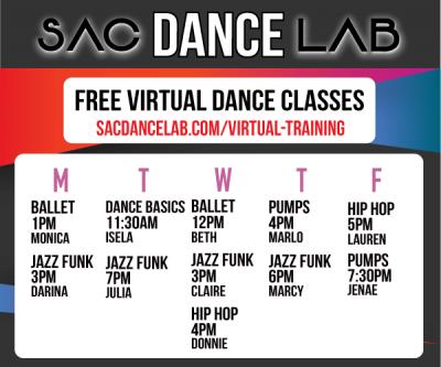 Sac Dance Lab Free Virtual Dance Classes