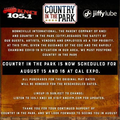 Country In The Park (Rescheduled)