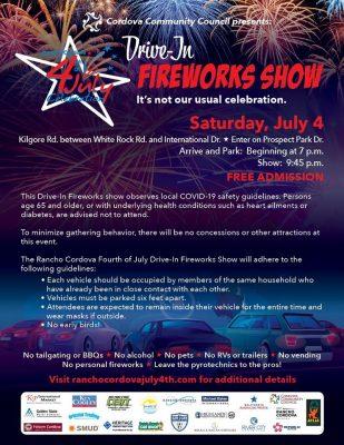 Rancho Cordova Drive-In Fireworks