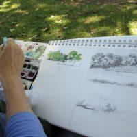 (Social Distanced) Plein Air Painting