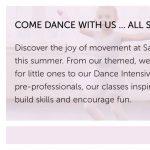 Sacramento Ballet Virtual Summer Camps