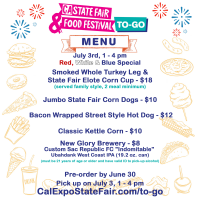 CA State Fair Food Festival To-Go (July 3)