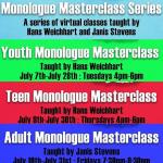 Youth Monologue Masterclass