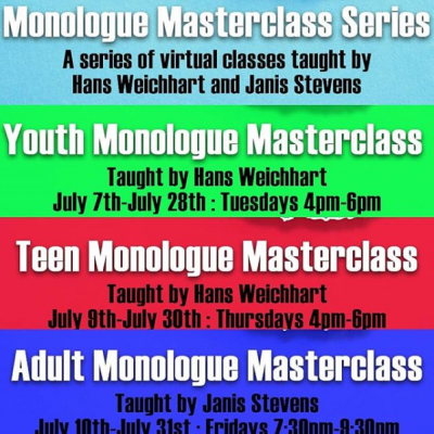 Youth Monologue Masterclass