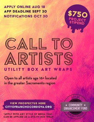 Call to Artists: City of Rancho Cordova Utility Bo...