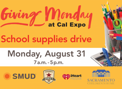 SMUD Giving Monday School Supply Drive at Cal Expo...