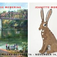 Painting Works by Steven Memering and Ceramics by Jeanette Morrow