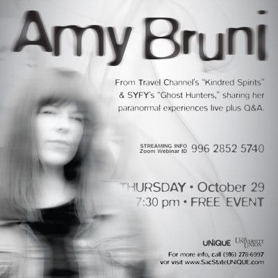 Lecture with Amy Bruni of Ghost Hunters: Experiences with the Paranormal