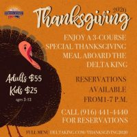 Thanksgiving 2020 at The Delta King