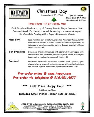 Three-Course To-Go Holiday Meals from Hoppy's