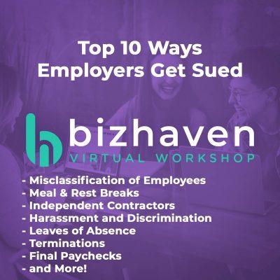 Top 10 Ways Employers Get Sued Webinar