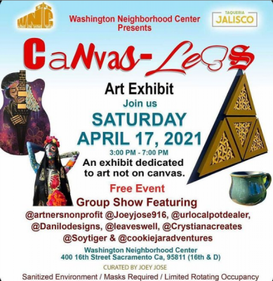 Canvas-Less Art Exhibit