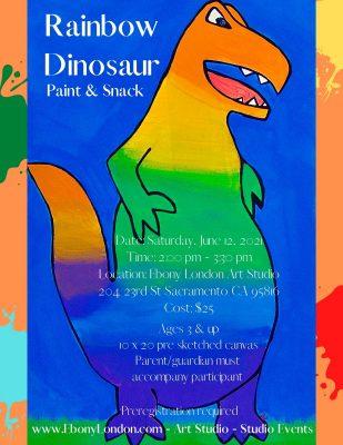 Rainbow Dinosaur Paint and Snack