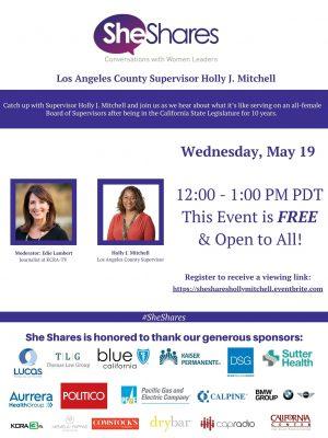 She Shares with LA County Supervisor Holly Mitchel...