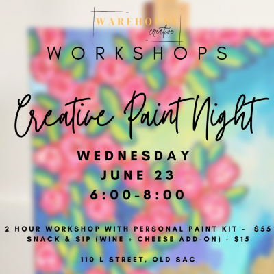 Creative Paint and Wine Night Workshop