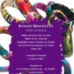 Bangle Bracelets Paint and Snack