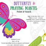 Butterfly and Praying Mantis Paint and Snack