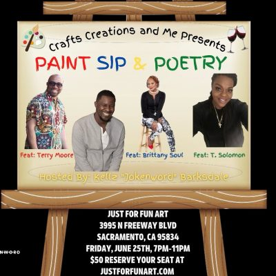 Paint, BBQ, Sip and Poetry