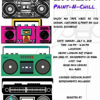 Boombox Paint and Chill