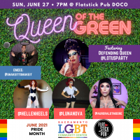 Queen of the Green Drag Queen Putting Contest